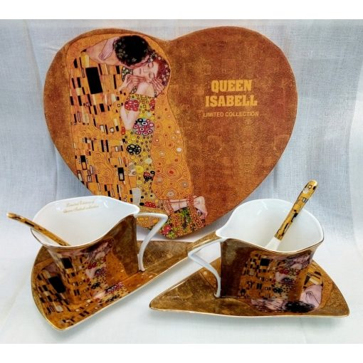 Klimt teás szett, Csók, 2 személyes, háromszög forma