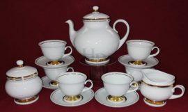 Teás készlet, Arany csík, 15 részes