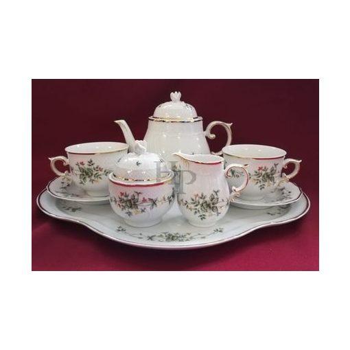 Hollóházi Tea Tete készlet, Erika, 8 részes