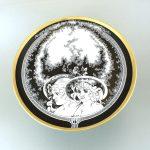 Falitányér, Női fejek, 24,5 cm