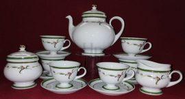 Teás készlet, Tátika zöld, 15 részes