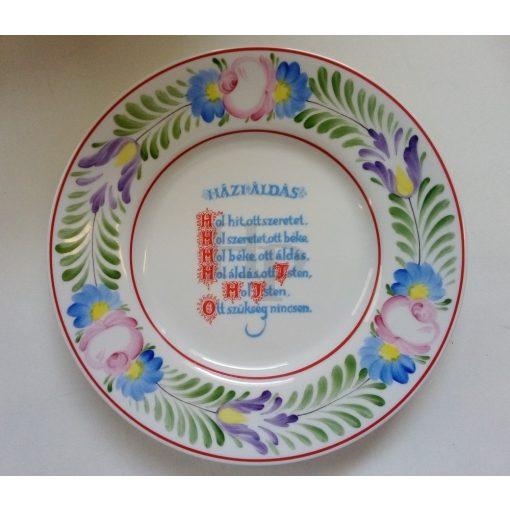 Hollóházi Kézzel festett, 312 Házi áldás 2441 27 cm
