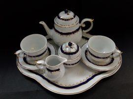 Tea Tete Készlet, Kék Rózsa, 8 részes