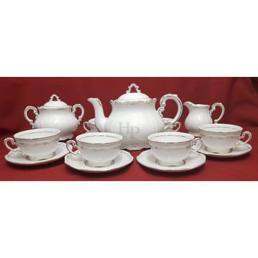 Teás készlet, Tollazott, 15 részes