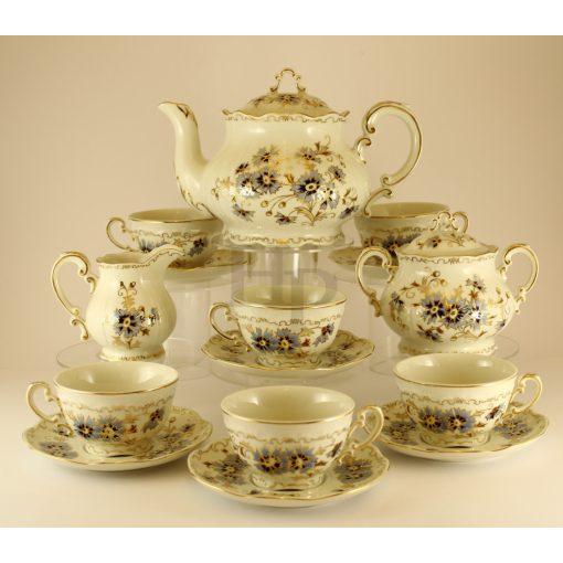 Teás készlet, Búzavirág, 15 részes