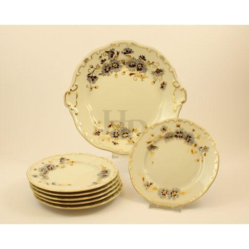Süteményes készlet, Búzavirág, 7 részes