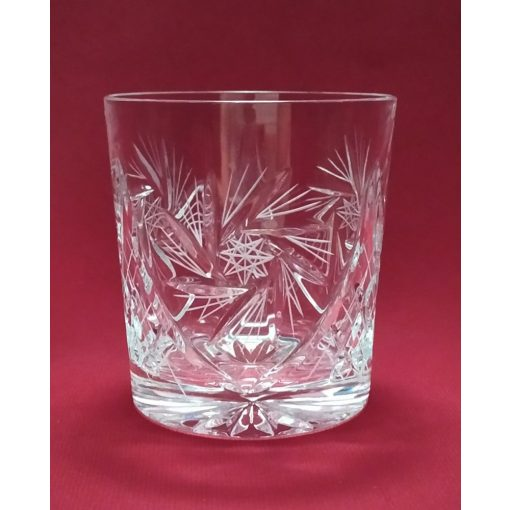 Whisky pohár, forgó mintás, 300 ml