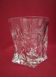 Csavart whisky pohár, Forgó mintás, 340 ml