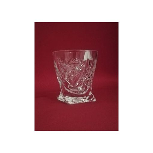 Unicum pohár, csavart, Forgó mintás, 55 ml