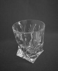 Csavart whisky pohár, nád mintás, 340 ml