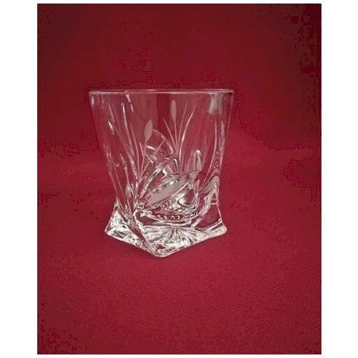 Unicum pohár, csavart, Nád mintás, 55 ml