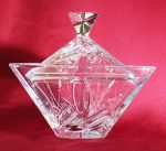 Bonbonier, Nád mintás, háromszög, 18 cm