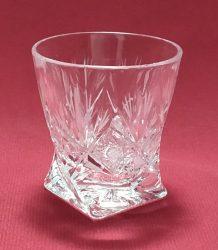 Unicum pohár, csavart, Sűrű mintás, 55 ml