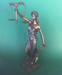 Igazság istennője Justicia szobor