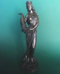 Szerencse istennője Fortuna szobor
