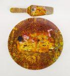 Süteményes tál+lapát 30cm Klimt