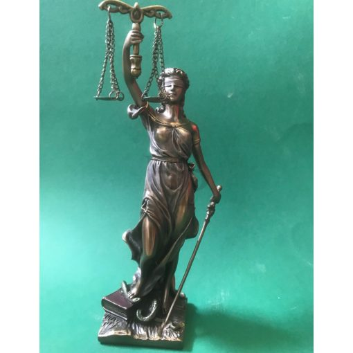 Igazság Istennője, Justicia szobor (20,5 cm)