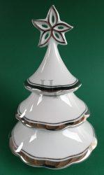 Karácsonyfa gyertyatartó, Platina, 3 részes