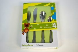 Gyerek evőeszközkészlet, 4 részes, Teddy Bear