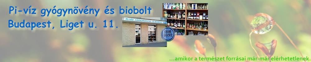 Pi-víz és gyógynövény biobolt